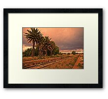 The Train Don't Run Here No More Framed Print