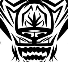 Fierce Tribal Bear T-shirt Design (Black) Sticker