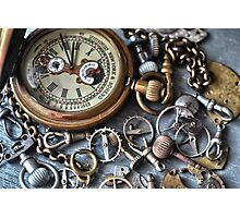 Tick Tock HDR Photographic Print