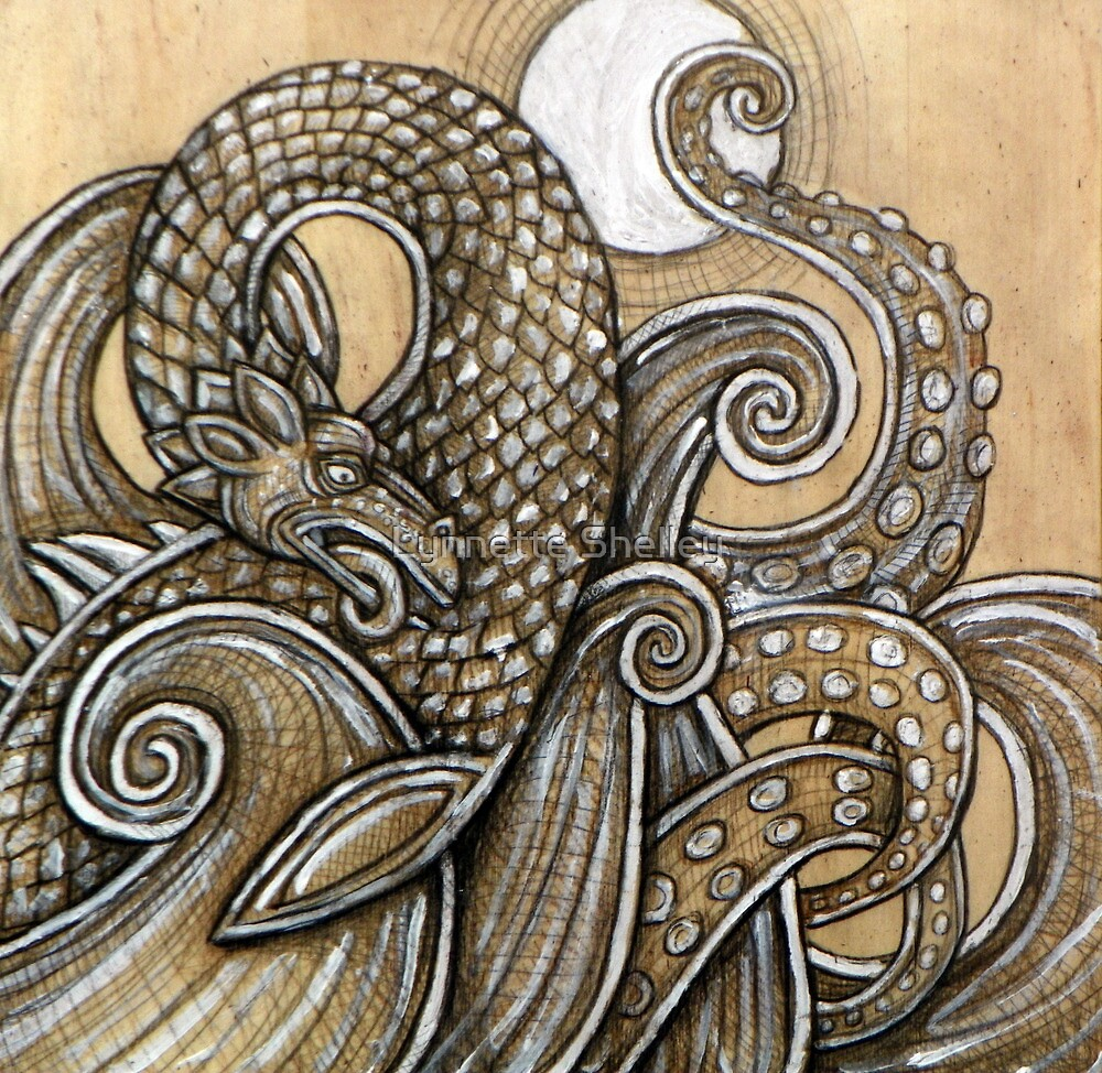 The Dragon, The Moon, The Sea by Lynnette Shelley