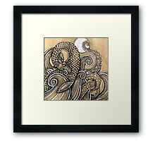 The Dragon, The Moon, The Sea Framed Print
