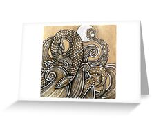 The Dragon, The Moon, The Sea Greeting Card
