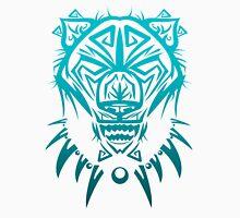 Fierce Tribal Bear T-Shirt Design (Teal) Unisex T-Shirt