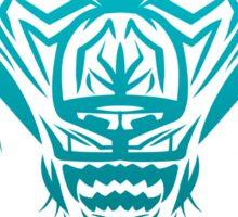 Fierce Tribal Bear T-Shirt Design (Teal) Sticker
