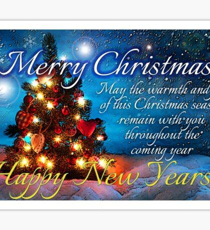 christmas scene 1 Sticker