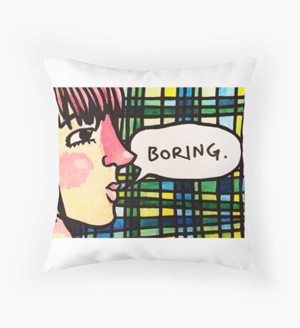 Boring Throw Pillow
