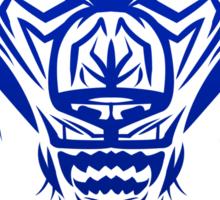 Fierce Tribal Bear T-Shirt Design (Dark Blue) Sticker