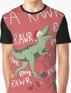 T-Rex Christmas Dinosaur - Dinosaur Christmas Graphic T-Shirt