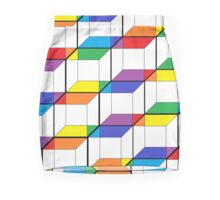 Rainbow Ribbon Cubes Mini Skirt