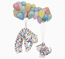 Rainbow Tigers and Balloons Kids Clothes