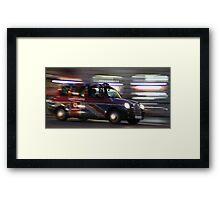 London cab Framed Print
