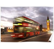 Red Bus and Big Ben Poster