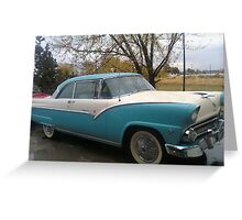Crown Victoria On The Move Greeting Card