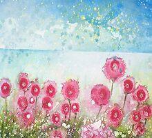 Sea pink (butterflies meet in jetstream) by izumiomoriart