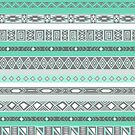 Cool Mint TIffany Turquoise Aztec Pattern by RexLambo