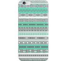 Cool Mint TIffany Turquoise Aztec Pattern iPhone Case/Skin