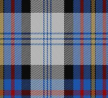 00483 Gillies Dress Blue Clan Tartan Fabric Print Iphone Case by Detnecs2013