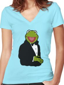 Classy Kermit Women's Fitted V-Neck T-Shirt