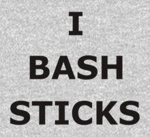 I Bash Sticks (in black) by Eirys