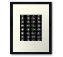 Bow down before your robot overlords Framed Print