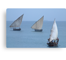 The Dhows of Zanzibar Canvas Print