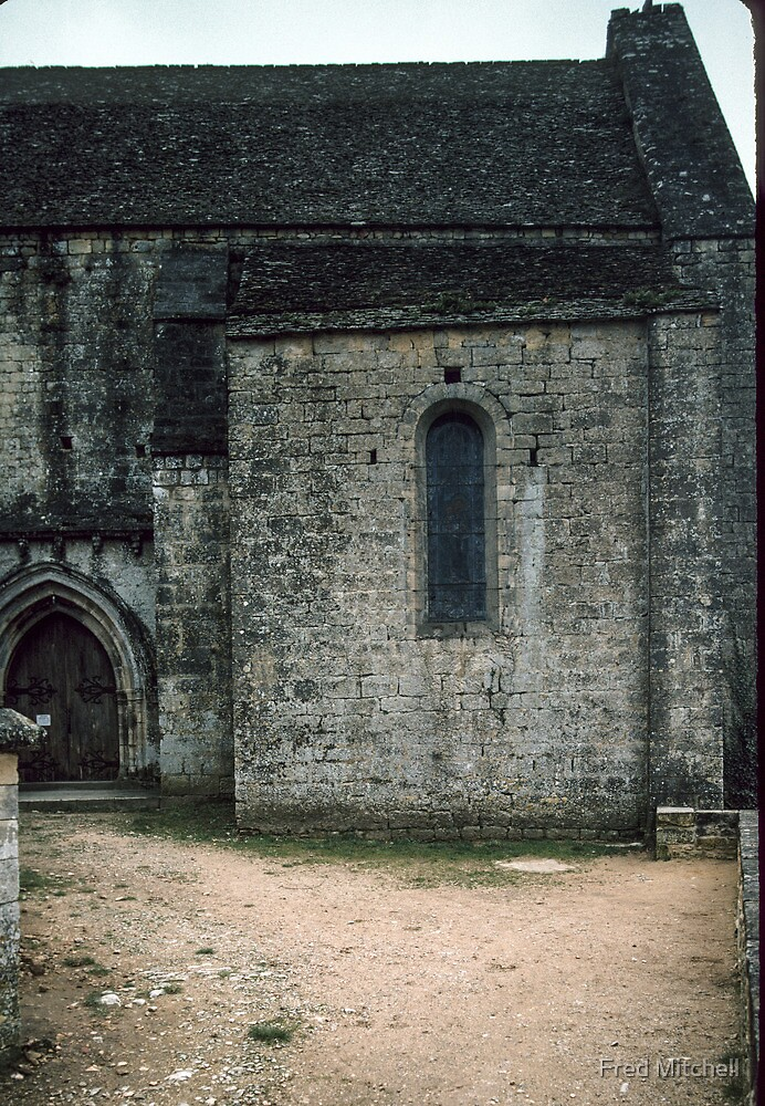 Side door to chapel Chateau de Beynac 19840227 0008 by Fred Mitchell