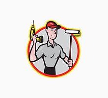 House Painter Paint Roller Handyman Cartoon Unisex T-Shirt