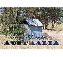 GREETINGS FROM AUSTRALIA Photographic Print