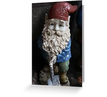 """Digger"" The Gnome Greeting Card"