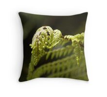 tree fern frond. Throw Pillow