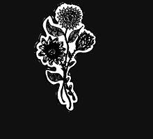 Dark Flower Tee Shirt Womens Fitted T-Shirt