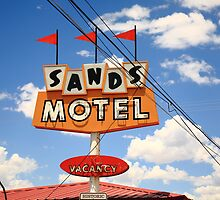 Route 66 - Sands Motel by Frank Romeo