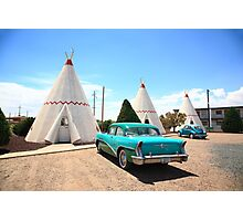 Route 66 Wigwam Motel Photographic Print