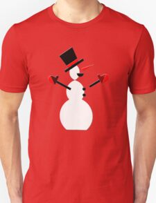 Snow Man in Holiday Unisex T-Shirt