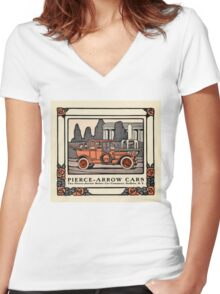 Pierce-Arrow Cars 1914 Women's Fitted V-Neck T-Shirt