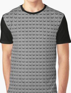 Building Block Brick Texture - Gray Graphic T-Shirt
