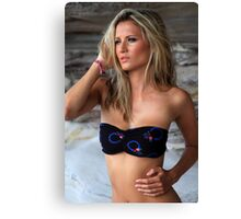 Elizabeth swimwear  Canvas Print