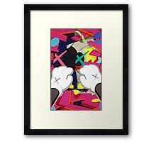 Kaws Paws Framed Print