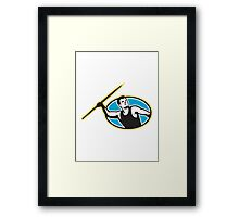 Javelin Throw Track and Field Athlete Framed Print