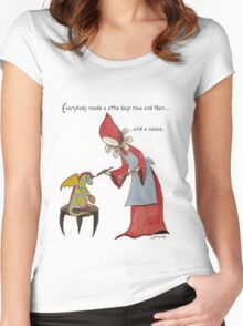 Everybody Needs a Little Help Women's Fitted Scoop T-Shirt