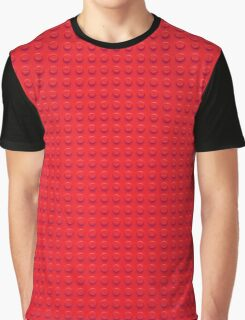 Building Block Brick Texture - Red Graphic T-Shirt