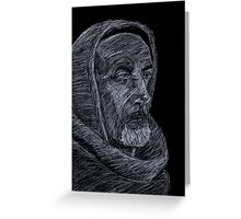 William of Baskerville Greeting Card