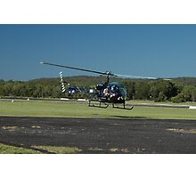 Evans Head Airshow 2010 - Bell 47 Photographic Print
