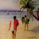 Heading for a dip by Sandra  Sengstock-Miller