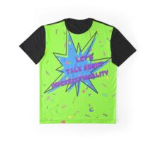 let's talk about intersectionality (90s green) Graphic T-Shirt