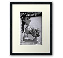 BW Bridal Framed Print
