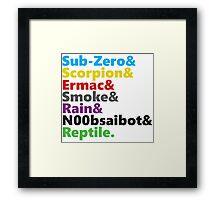 Mortal Kombat - Ninja Beatles Framed Print