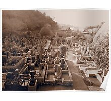 Japanese Cemetery - Kamakura, Japan Poster