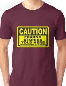 CAUTION FISHING T SHIRT Unisex T-Shirt