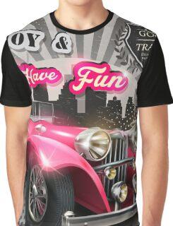 Retro car poster Graphic T-Shirt